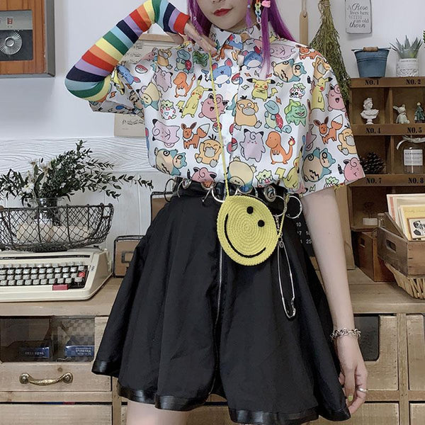 Got to Catch Them All Pokémon Short Sleeves Blouse SD01184