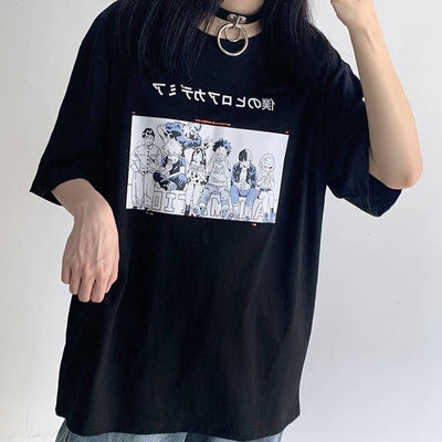 My Hero Academia Group T-shirt SD01476 - SYNDROME - Cute Kawaii Harajuku Street Fashion Store