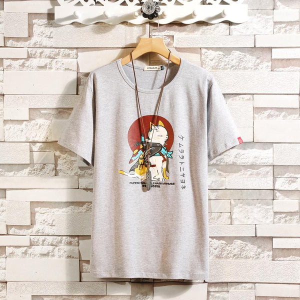 Travelling Neko T-shirt SD01214 - SYNDROME - Cute Kawaii Harajuku Street Fashion Store