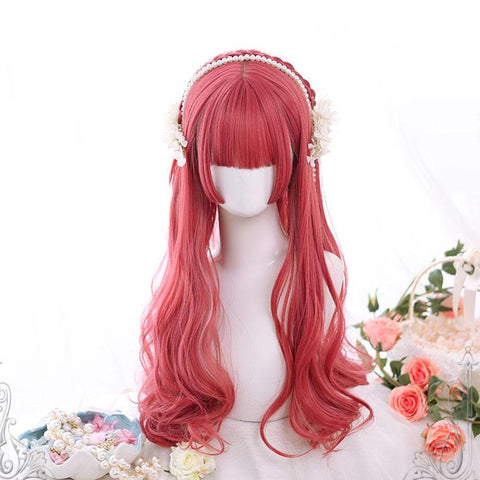 Fairy Red Wavy Wig SD01445