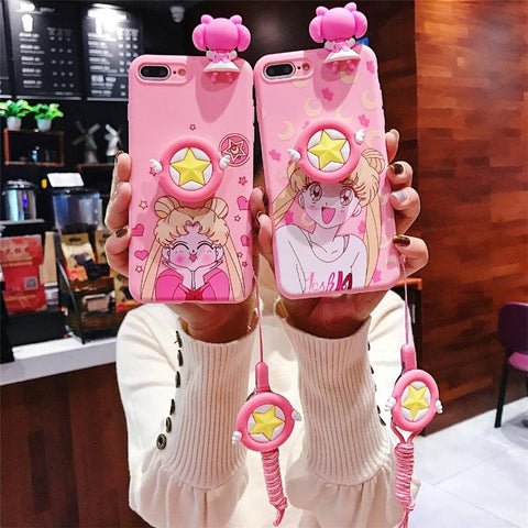Sailor Moon Girl Chubby Cheeks Smile Iphone Case SD01398 - SYNDROME - Cute Kawaii Harajuku Street Fashion Store