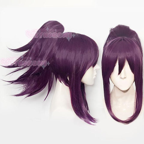 Spiky Pony Tail Puple Wig SD00484