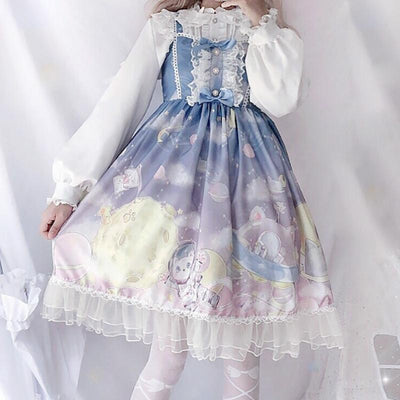 Cat Space Dress SD00390 - SYNDROME - Cute Kawaii Harajuku Street Fashion Store