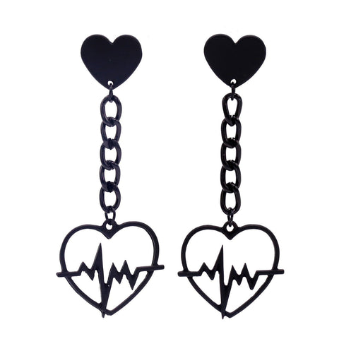 Heart Beat Earrings SD00046 - SYNDROME - Cute Kawaii Harajuku Street Fashion Store