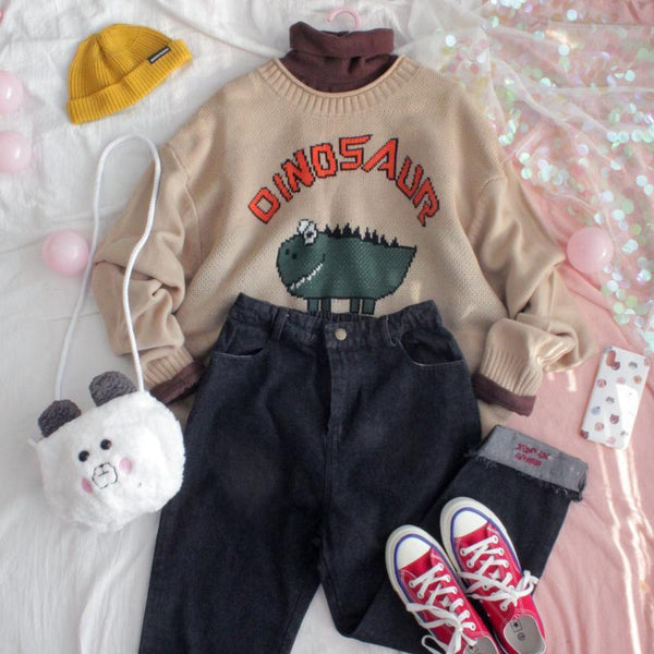 Dinosaur Sweater SD00758 - SYNDROME - Cute Kawaii Harajuku Street Fashion Store
