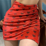 Hearts High Waist Skirt SD01104