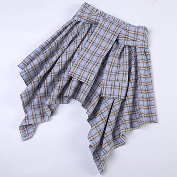 Plaid High Waist Short Skirt SD01351