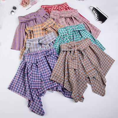 Plaid High Waist Short Skirt SD01351 - SYNDROME - Cute Kawaii Harajuku Street Fashion Store
