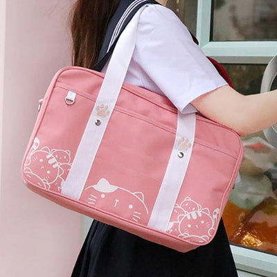 Neko School Shoulder Bag SD01645 - SYNDROME - Cute Kawaii Harajuku Street Fashion Store