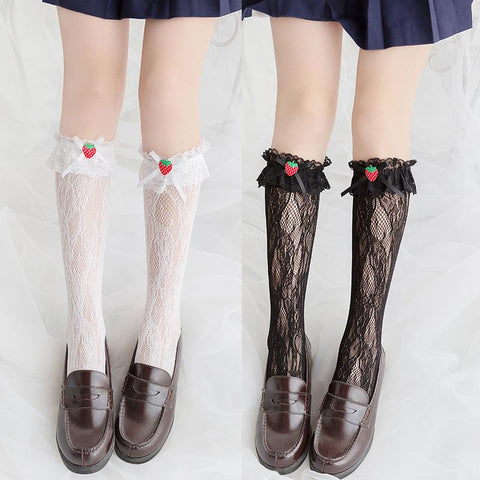 Strawberry Lace Knee Socks SD00661