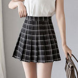 Milk Tea High Waist Pleated Paid Skirt SD00398 - SYNDROME - Cute Kawaii Harajuku Street Fashion Store