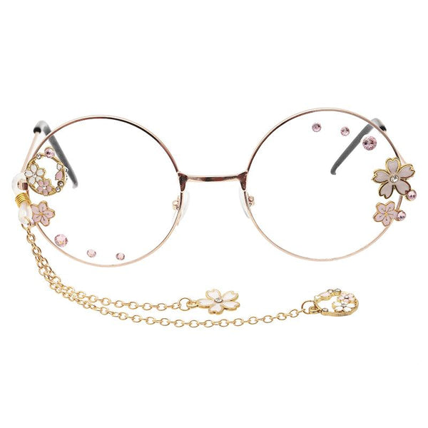Cherry Blossom Pendant Glasses SD01361 - SYNDROME - Cute Kawaii Harajuku Street Fashion Store