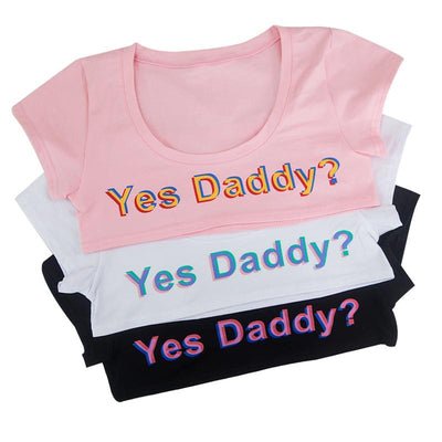Yes Daddy? Crop Top SD02359 - SYNDROME - Cute Kawaii Harajuku Street Fashion Store