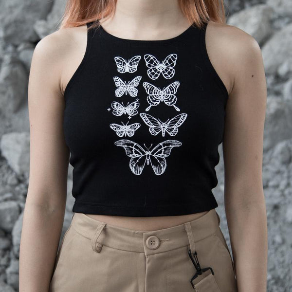 Butterfly Love Top SD01066 - SYNDROME - Cute Kawaii Harajuku Street Fashion Store