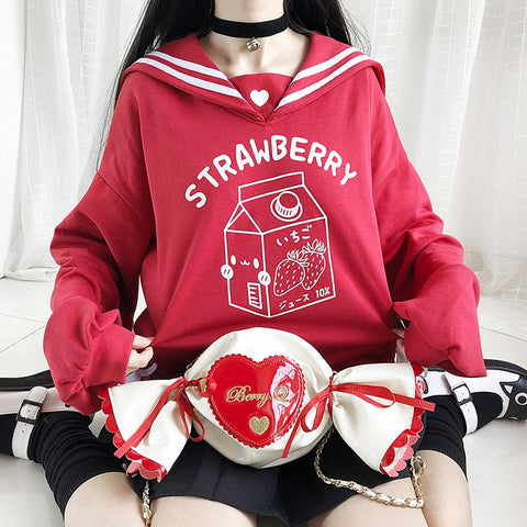 Pre-order Strawberry Milk Sailor Sweater SD01718 - SYNDROME - Cute Kawaii Harajuku Street Fashion Store