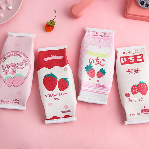 Strawberry Milk Pencil Bags SD01373