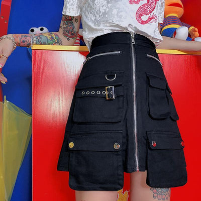 High Waist Pocket Skirt SD01189 - SYNDROME - Cute Kawaii Harajuku Street Fashion Store