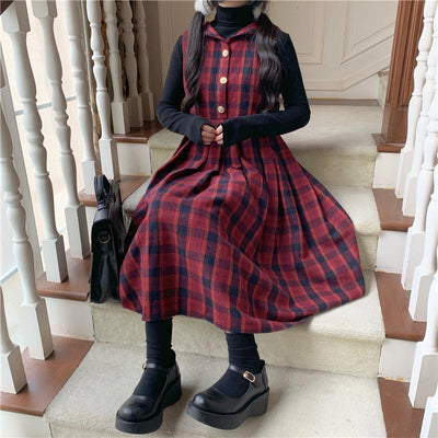 Retro Plaid Dress SD00255 - SYNDROME - Cute Kawaii Harajuku Street Fashion Store