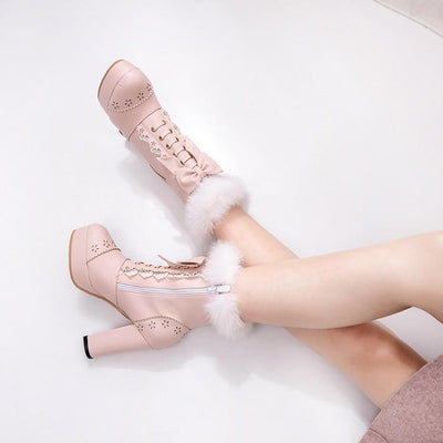 Lolita Winter Boots Shoes SD00853 - SYNDROME - Cute Kawaii Harajuku Street Fashion Store