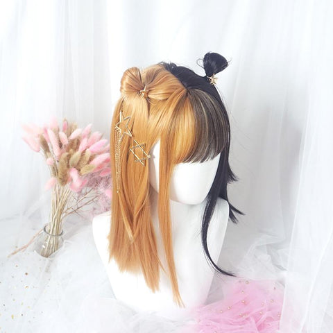 Brown Black Split Wig SD01061 - SYNDROME - Cute Kawaii Harajuku Street Fashion Store