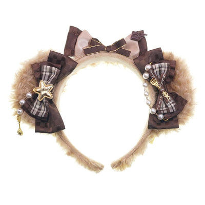 Chocolate Bear Headband SD00274 - SYNDROME - Cute Kawaii Harajuku Street Fashion Store