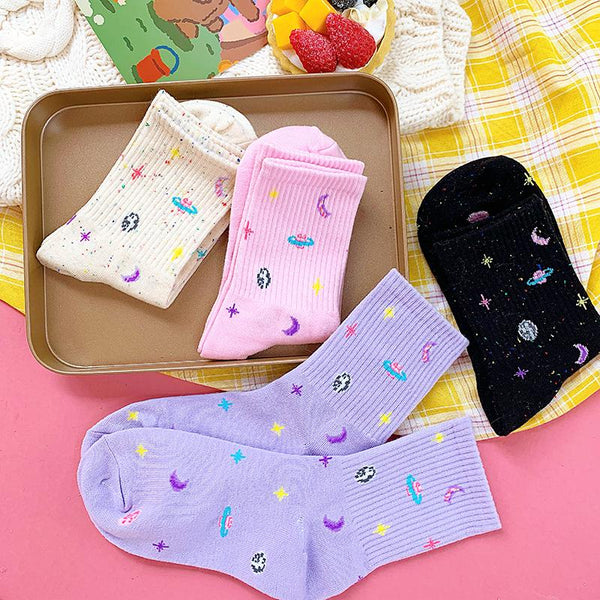 Space Galaxy Socks SD01501 - SYNDROME - Cute Kawaii Harajuku Street Fashion Store