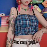 Zipper Belt Top SD01190 - SYNDROME - Cute Kawaii Harajuku Street Fashion Store