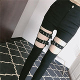 Buckle Straps Pants SD01172 - SYNDROME - Cute Kawaii Harajuku Street Fashion Store