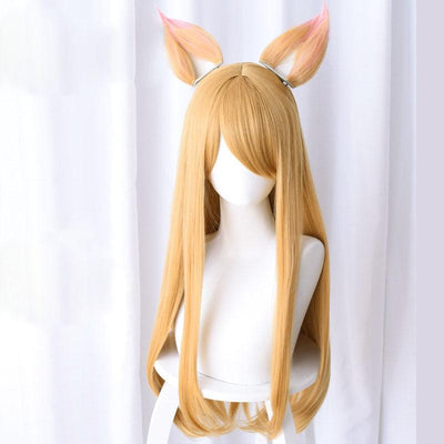 Fox Ears Blonde Long Wig SD00480 - SYNDROME - Cute Kawaii Harajuku Street Fashion Store