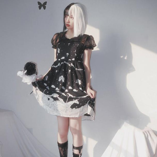 Night Fall Pegasus Lolita Strap Dress SD02433