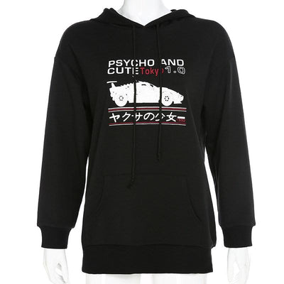 Psycho and Cute Hoodie SD01536 - SYNDROME - Cute Kawaii Harajuku Street Fashion Store