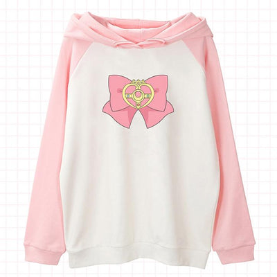 Sailor Moon Bow Tie Hoodie Sweater SD00919 - SYNDROME - Cute Kawaii Harajuku Street Fashion Store