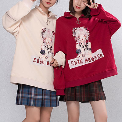 Evil Sister Harajuku Sweater SD02427 - SYNDROME - Cute Kawaii Harajuku Street Fashion Store