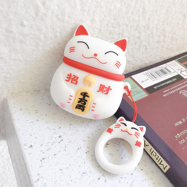 Lucky Cat Airpods Case SD01246 - SYNDROME - Cute Kawaii Harajuku Street Fashion Store