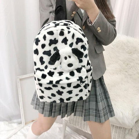 Fluffy Moo Backpack SD02418 - SYNDROME - Cute Kawaii Harajuku Street Fashion Store