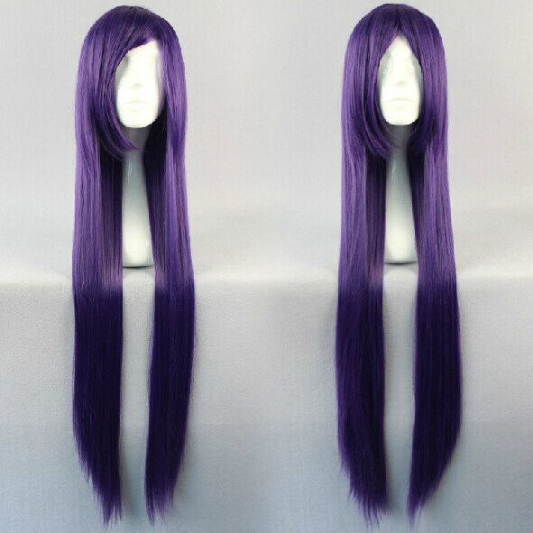 Long Dark Purple Wig SD00325 - SYNDROME - Cute Kawaii Harajuku Street Fashion Store