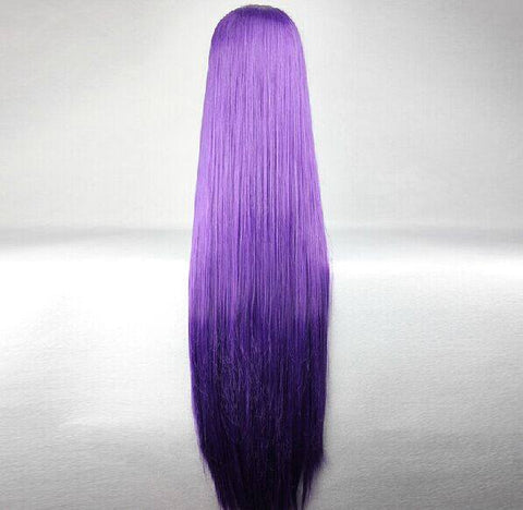 Japanese Long Dark Purple Wig SD00325