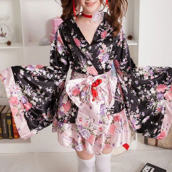 Japanese Sakura Kimono Dress SD00348 - SYNDROME - Cute Kawaii Harajuku Street Fashion Store