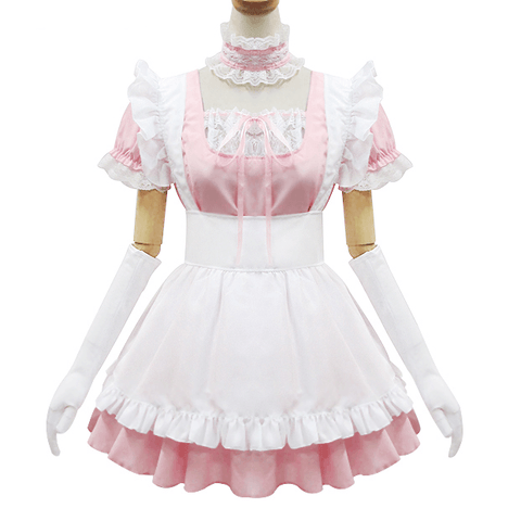Japanese Sweet Lace Ruffle Apron Maid Dress SD00362