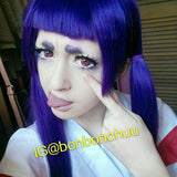 Japanese Long Dark Purple Wig SD00325 - SYNDROME - Cute Kawaii Harajuku Street Fashion Store