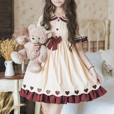 Ruffle Heart Lolita Dress SD00823 - SYNDROME - Cute Kawaii Harajuku Street Fashion Store