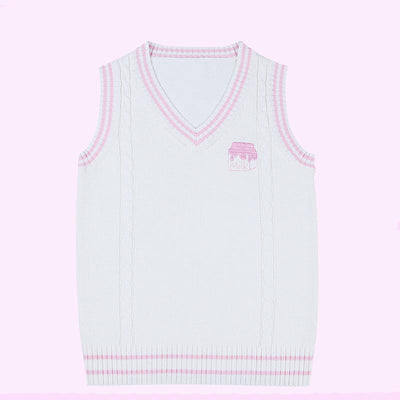 School Embroidered Milk Vest SD01886 - SYNDROME - Cute Kawaii Harajuku Street Fashion Store