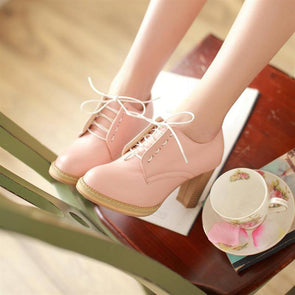 Korean Sweet Thick High-heeled Shoes SD01151