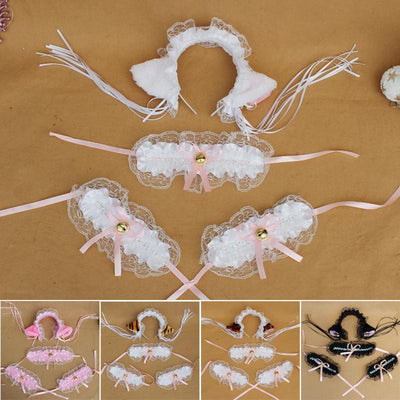 Ruffle Kitty Ears Headband with Tassels SD00041 - SYNDROME - Cute Kawaii Harajuku Street Fashion Store