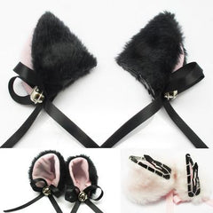 Cute Bell Kitty Ear Clips SD00042