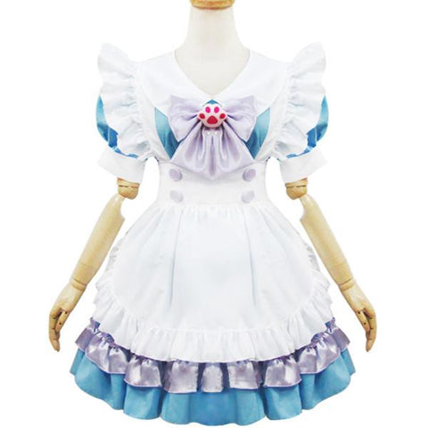 Japanese Pastel Cat Pawns Maid Costume Dress SD00587