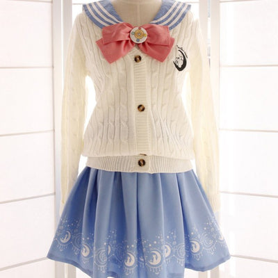 Sailor Moon Woolen Long-Sleeved Cardigan SD00254 - SYNDROME - Cute Kawaii Harajuku Street Fashion Store