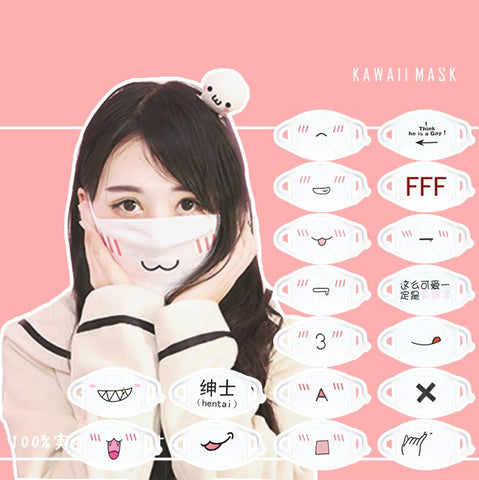 Kawaii Emoticons Mouth Masks SD00066 - SYNDROME - Cute Kawaii Harajuku Street Fashion Store