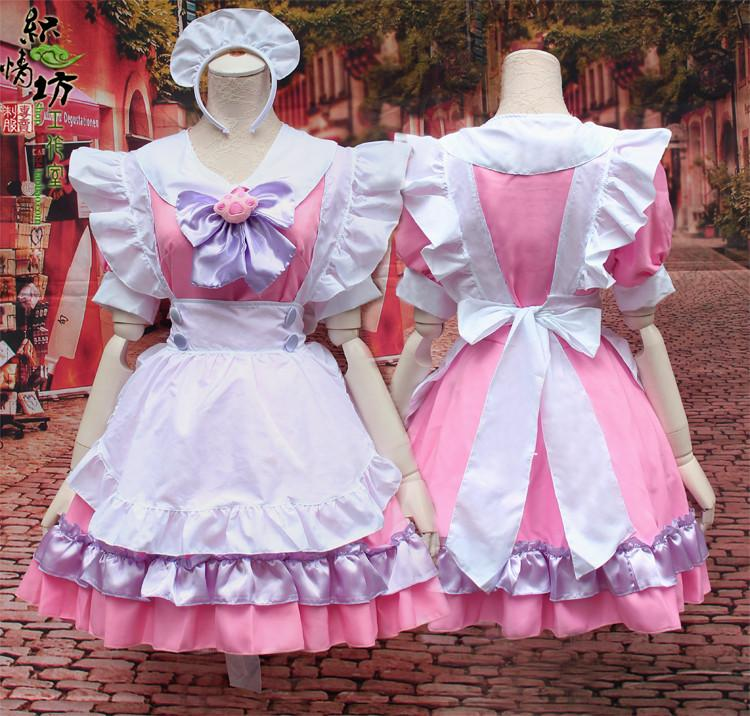 Pink Kitty Cat Kawaii Maid Dress SD00782 - SYNDROME - Cute ...