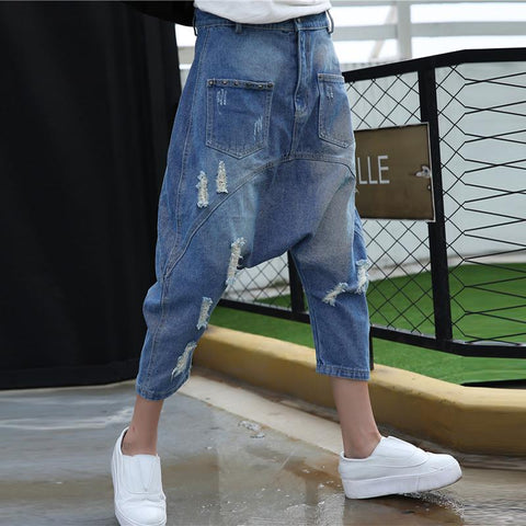 Korean loose baggy denim pants SD02494